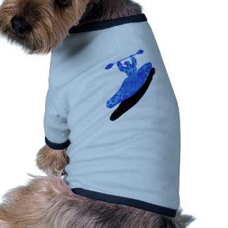Kayak azul australis doggie t shirt