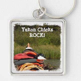 Kayak Balance; Yukon Chicks ROCK Keychain