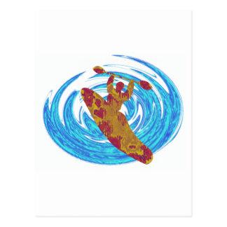 Kayak Basic Love Postcard