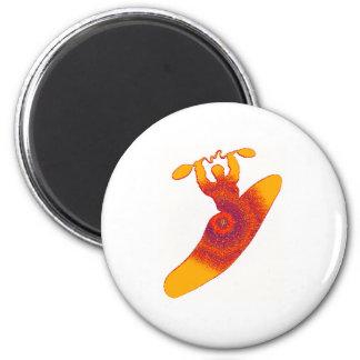 Kayak Bent Apollo 2 Inch Round Magnet