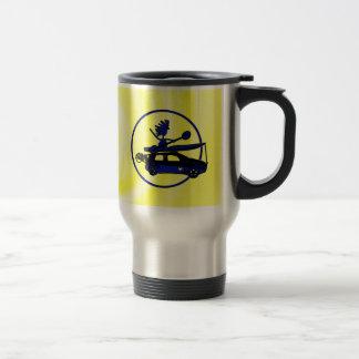 Kayak, Bike, Car On Blue 15 Oz Stainless Steel Travel Mug