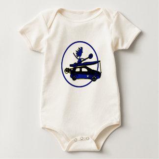 Kayak, Bike, Car On Blue Baby Creeper
