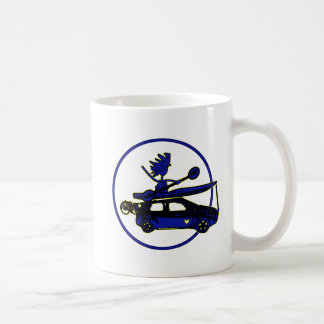 Kayak, Bike, Car On Blue Classic White Coffee Mug