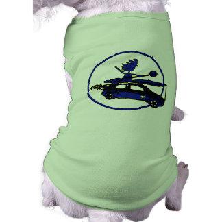 Kayak, Bike, Car On Blue Dog Shirt