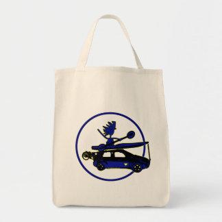 Kayak, Bike, Car On Blue Grocery Tote Bag