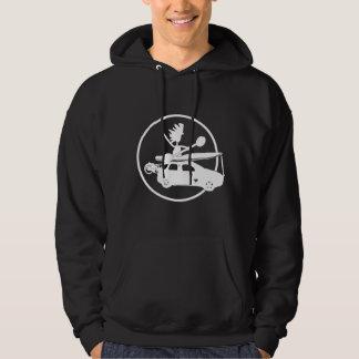 Kayak, Bike, Car On Blue Hooded Sweatshirts