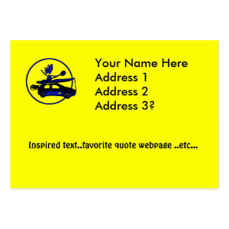 Kayak, Bike, Car On Blue Large Business Cards (Pack Of 100)
