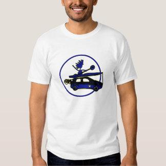 Kayak, Bike, Car On Blue Shirt