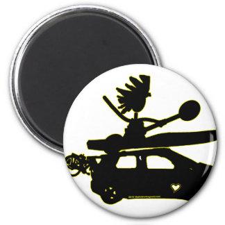 Kayak Bike Car - Zoom Gifts 2 Inch Round Magnet
