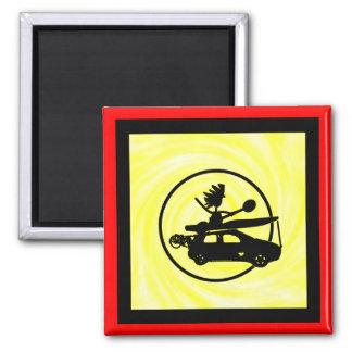 Kayak Bike Car - Zoom Gifts 2 Inch Square Magnet