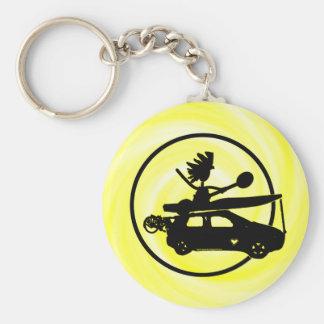 Kayak Bike Car - Zoom Gifts Basic Round Button Keychain