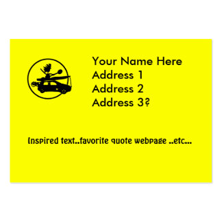 Kayak Bike Car - Zoom Gifts Large Business Cards (Pack Of 100)