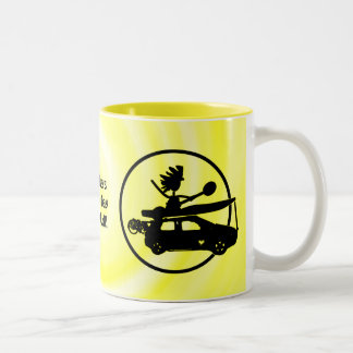 Kayak Bike Car - Zoom Gifts Two-Tone Coffee Mug