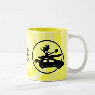 Kayak Bike Car - Zoom Gifts Two-Tone Coffee Mug
