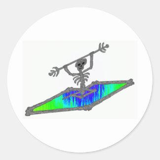 Kayak Billy Bones Classic Round Sticker