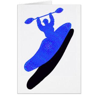 kayak Blue Basics Greeting Cards