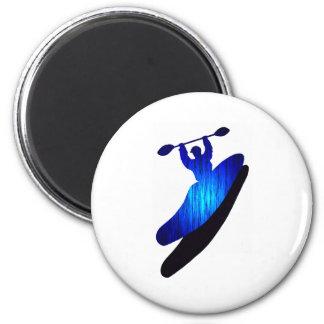 Kayak Blue Bays 2 Inch Round Magnet