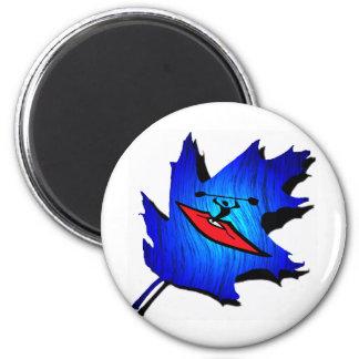 Kayak Blue Cascades 2 Inch Round Magnet