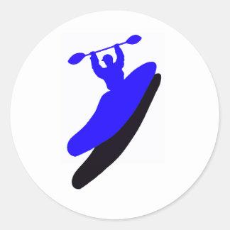 Kayak Blue Crush Classic Round Sticker