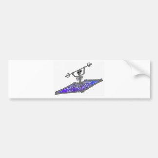 Kayak Bones Deep Car Bumper Sticker