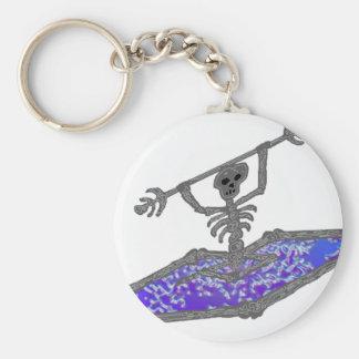 Kayak Bones Deep Basic Round Button Keychain