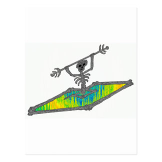 Kayak Bones Wavelength Postcard