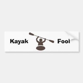 Kayak Car Bumper Sticker