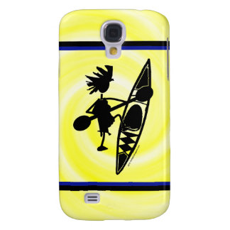 Kayak Canoe Joyful Silhouette Samsung Galaxy S4 Cover