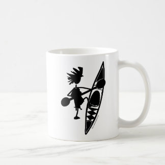 Kayak Canoe Joyful Silhouette Coffee Mug