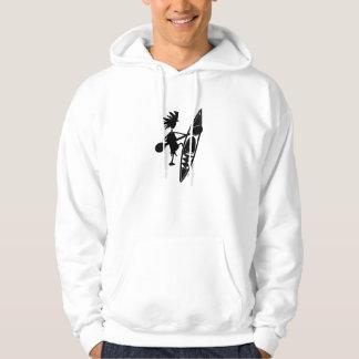 Kayak Canoe Joyful Silhouette Hooded Sweatshirt