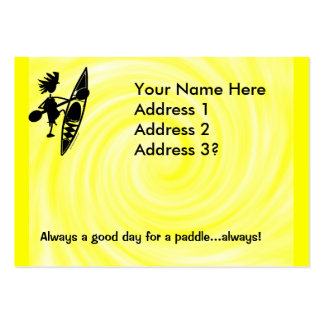 Kayak Canoe Joyful Silhouette Large Business Card