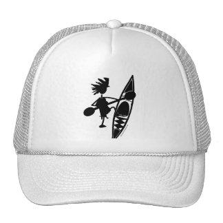 Kayak Canoe Joyful Silhouette Trucker Hat