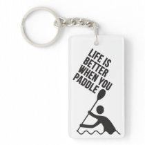 Kayak canoe paddle design keychain
