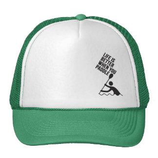Kayak canoe paddle design trucker hat