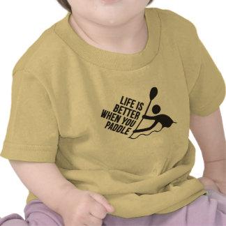 Kayak canoe paddle design shirt