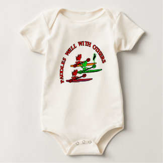 Kayak Canoe - Paddles Well With Others Baby Bodysuit