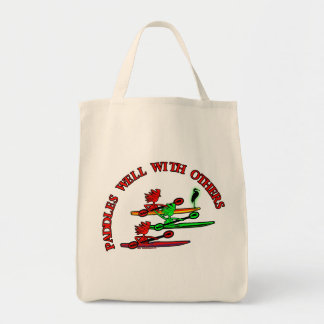 Kayak Canoe - Paddles Well With Others Canvas Bags