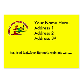 Kayak Canoe - Paddles Well With Others Large Business Cards (Pack Of 100)