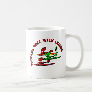 Kayak Canoe - Paddles Well With Others Classic White Coffee Mug