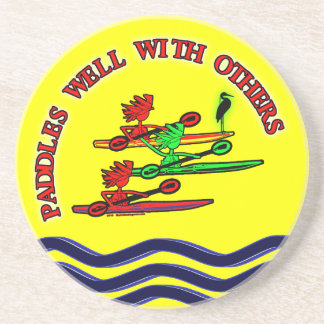 Kayak Canoe - Paddles Well With Others Coaster