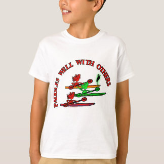 Kayak Canoe - Paddles Well With Others T-Shirt