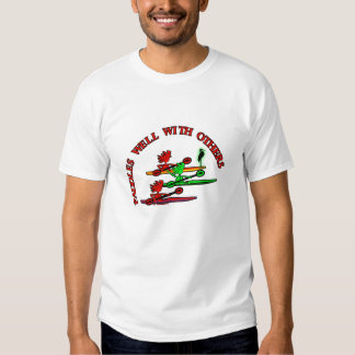 Kayak Canoe - Paddles Well With Others T Shirt