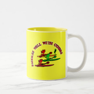 Kayak Canoe - Paddles Well With Others Two-Tone Coffee Mug