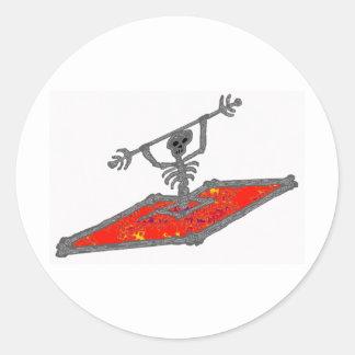 Kayak Ceasar Bones Classic Round Sticker