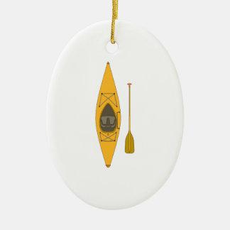 kayak ceramic ornament