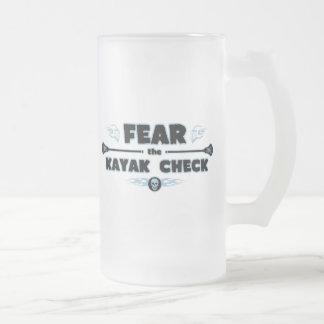 Kayak Check - blue Coffee Mugs