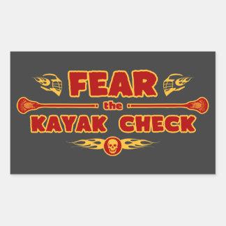 Kayak Check Rectangular Sticker
