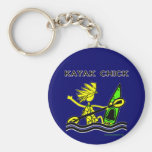 Kayak Chick Designs & Things Basic Round Button Keychain