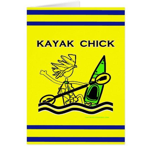 Kayak Chick Designs & Things Card