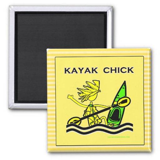 Kayak Chick Designs & Things Fridge Magnet